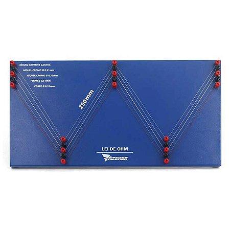 Placa de Resistores de Fio para Estudo da lei de OHM