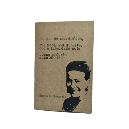 Caderno Artesanal Capa Kraft Simone de Beauvoir