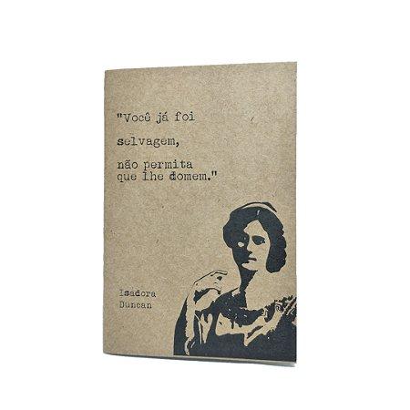Caderno Artesanal Capa Kraft Isadora Duncan
