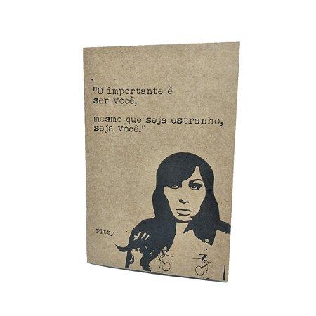 Caderno Artesanal Capa Kraft Pitty