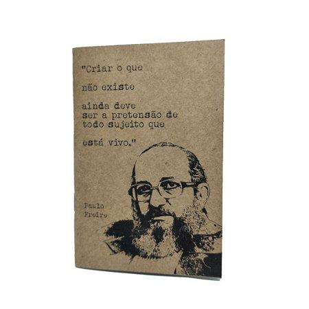 Caderno Artesanal Capa Paulo Freire