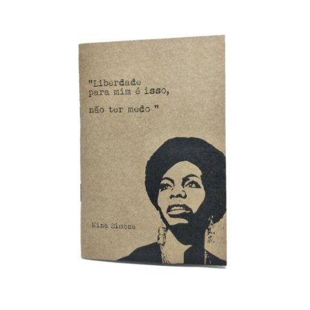Caderno Artesanal Capa Nina Simone
