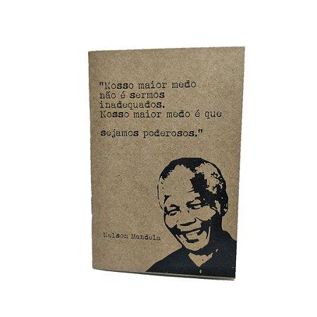 Caderno Artesanal Capa Mandela