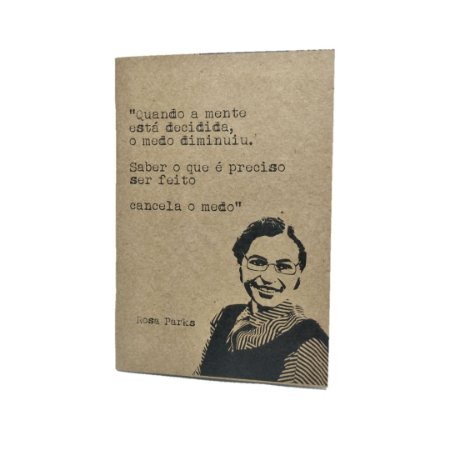 Caderno Artesanal Capa Rosa Parks