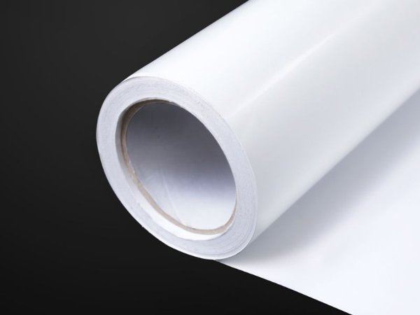 Vinil Adesivo Automotivo Branco Brilhante/Cinza 1,27m x 50m  (UV1501)