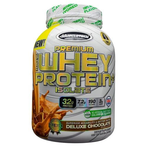 Premium 100% Whey Protein Plus Isolate Deluxe Chocolate 1,36kg - Muscletech