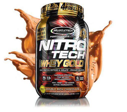 100% Whey Gold Nitro Tech - Muscle Tech - 999g