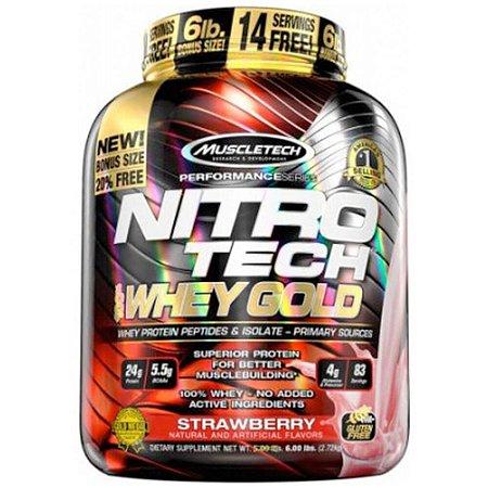100% Whey Gold Nitro Tech - Muscle Tech - 2,49 kg