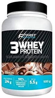 3whey Protein Fit Fast Nutrition 900g - Diversos Sabores