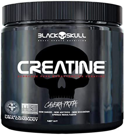 Creatine Caveira Preta - 150g - Black Skull