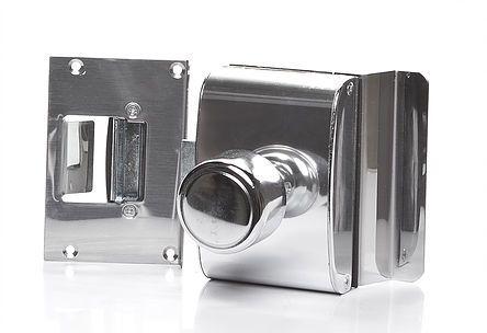 PV200R1I -Porta de vidro com rasgo, vidro/alvenaria e abertura para dentro