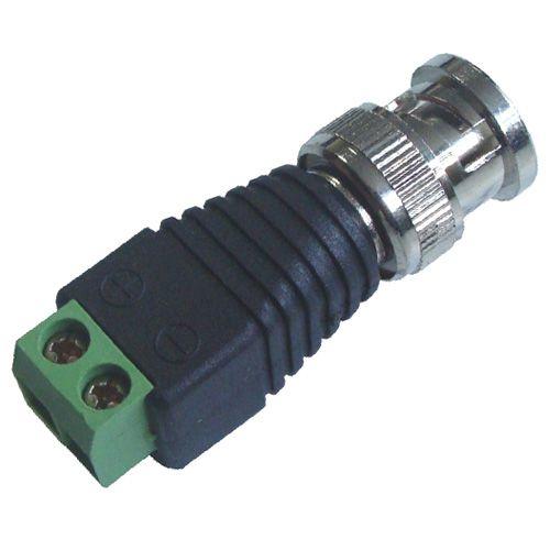 Conector BNC Macho com Borne p/ Câmera de Segurança