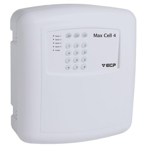 Central de Alarme ECP Max Cell 4 para Sensores com ou sem fio- Discadora GSM Incorporada