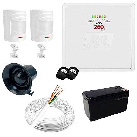 Kit Sistema de Alarme Residencial / Comercial com 2 Sensores de presença sem fio Completo