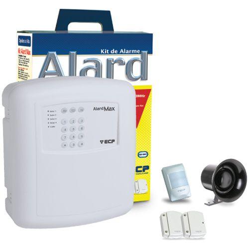 Kit Sistema de Alarme com Sensores Sem Fio e Discadora Telefonica ECP Alard Max1 - Iso 9001