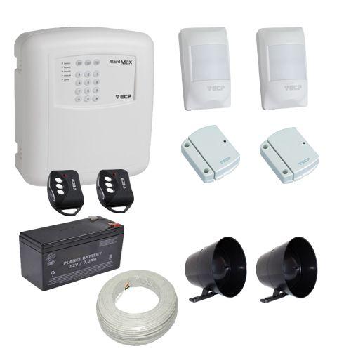 Kit Alarme Residencial / Comercial ECP com Discadora Telefônica e 4 Sensores Sem Fio