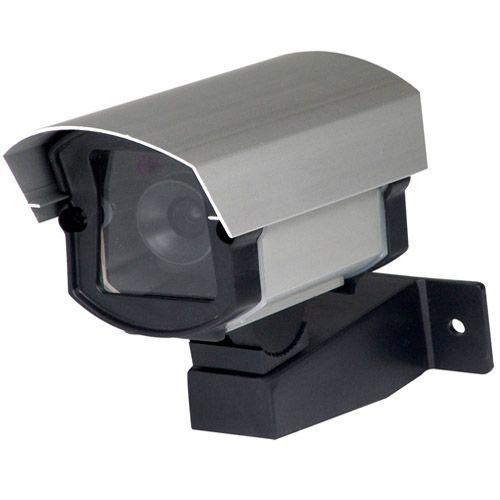 Câmera de Segurança Falsa com Suporte e Led Bivolt em Alumínio