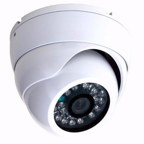 Câmera Dome Infravermelho 20 Metros Ccd analógica 1000 Linhas Colorida- Branca