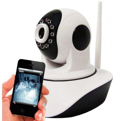 Câmera IP 1.3 Megapixel 720P HD Wireless Infravermelho e Movimento - Acesso Celular