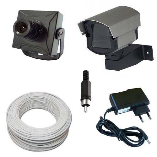 Kit Vigilância 1 Mini Câmera Completo p/ TV - Fácil Instalação