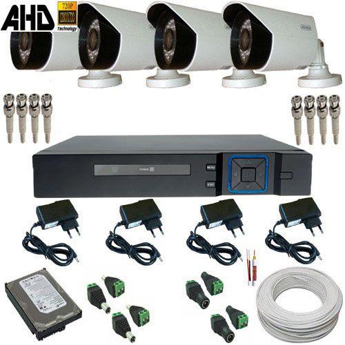 Sistema Vigilância Câmeras AHD 1 Megapixel Infravermelho + Dvr com Acesso Celular - Alta Resolução