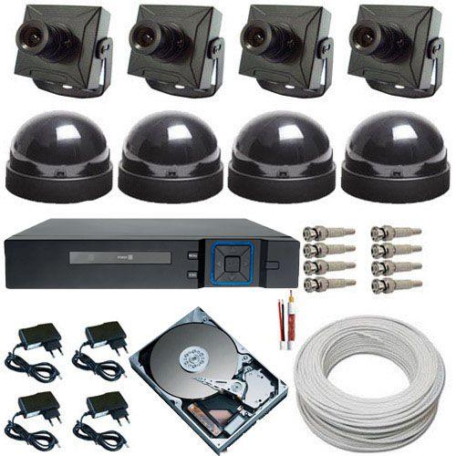 Kit 4 Câmeras de Segurança com Gravador Dvr Stand Alone - Acesso via Celular