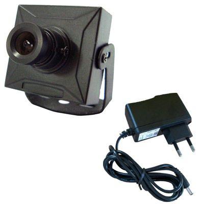 Micro Câmera de Vigilância Analógica 420 Linhas 0,5 Lux- Fonte Grátis