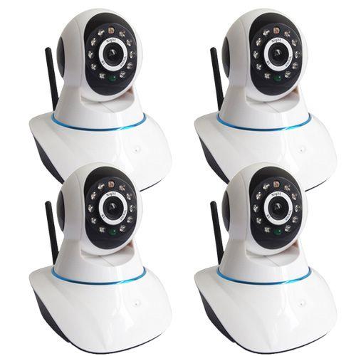 Kit de Vigilância com 4 Câmeras IP 1.3 Megapixel 11 Leds infravermelho com acesso p2p