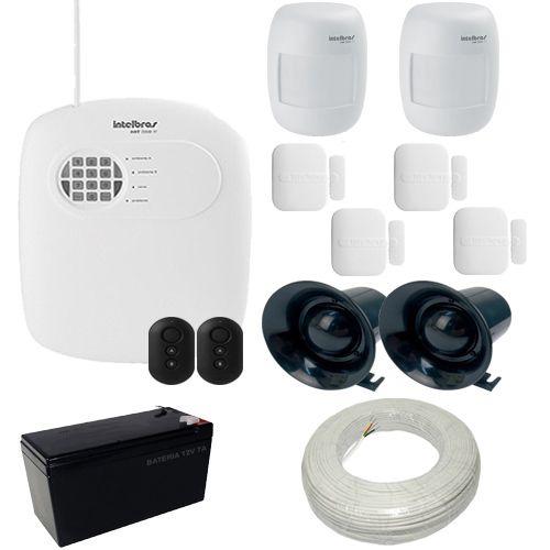 Kit Alarme residencial e Comercial Intelbras 1 Central AMT 2008 RF 6 Sensores sem fio