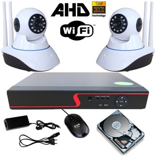 Kit Vigilância 2 Câmeras IP 11 Leds Infravermelho AHD 1.3 Mp Com Acesso Remoto