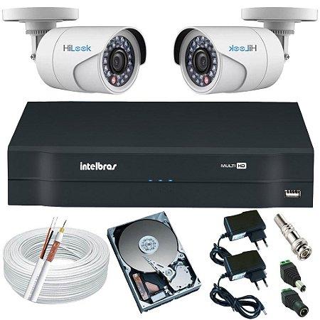 Kit de Alarme 2 Câmeras Full HD 1080p 2 Megapixel + DVR Intelbras 4 Canais