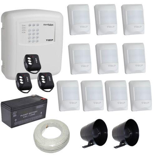 Alarme Residencial e Comercial ECP Central Alard Max 1 Sensores Infravermelho Pet 20Kg