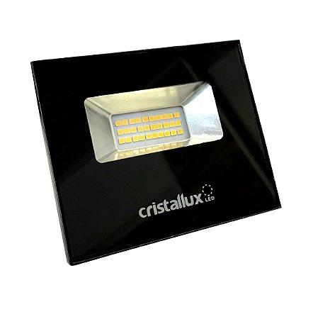 Refletor LED SMD Microled 10w - CRISTALLUX - Luz Branca Natural, Luz Branco Quente ou Verde