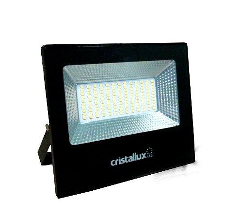 REFLETOR LED SMD MICROLED 50W - CRISTALLUX - LUZ BRANCA NATURAL 5000K