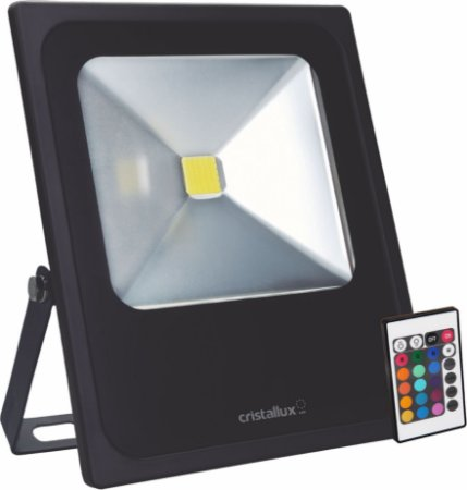 REFLETOR LED 50w RGB COLORIDO- CRISTALLUX