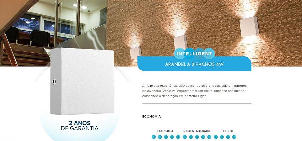 Arandela Externa DOIS FACHOS BRILIA - 6w - 2700k - ENCOMENDE!