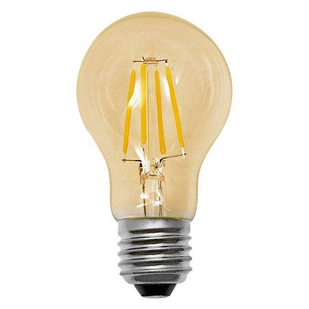 Lâmpada LED Bulbo Filamento Vintage 4w 2200K Branco Quente Âmbar - E-27 Bivolt - Cristallux