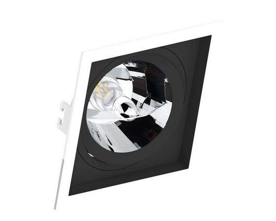 Embutido Recuado borda branca com fundo orbital preto para AR111 Save Energy - Lâmpada não inclusa