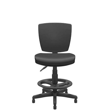 Cadeira Caixa Executiva Altrix Giratoria Estrutura Fixa sem Braço Rev.Couro Ecológico - Plaxmetal