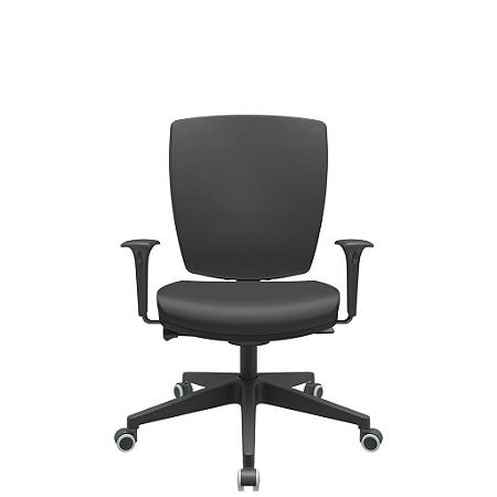 Cadeira Giratoria Diretor Altrix Autocompensador Base Piramidal Rev.Couro Ecológico - Plaxmetal