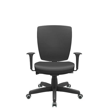 Cadeira Giratoria Diretor Altrix Autocompensador Rev.Couro Ecológico - Plaxmetal
