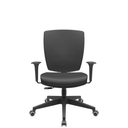 Cadeira Giratoria Diretor Altrix Relax Base Piramidal Rev.Couro Ecológico - Plaxmetal