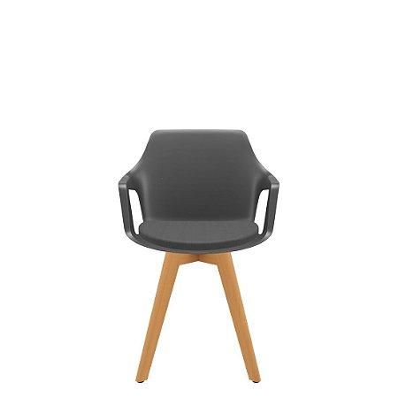 Cadeira Vesper Base Madeira com Revestimento - Plaxmetal