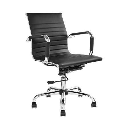 Cadeira de Escritório Diretor Charles Eames Preta