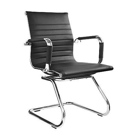Cadeira de Escritório Fixa Interlocutor Charles Eames Preta