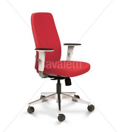 Cadeira Giratoria Presidente Idea 40101 - Syncron - Base Alumínio - Cavaletti