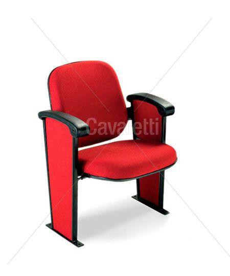 Poltrona Auditório Assento Retrátil Cavaletti 12011
