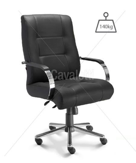 Cadeira para Escritório Presidente Cavaletti Prime 20103 Plus Size