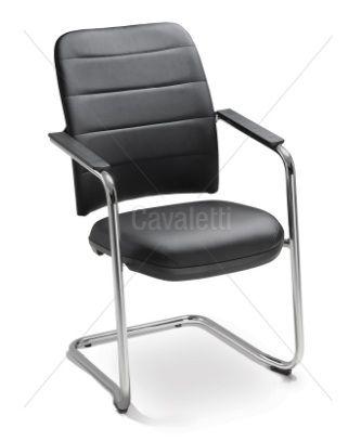Cadeira Fixa de Aproximação Soft 16506 S - Base Cromada - Cavaletti