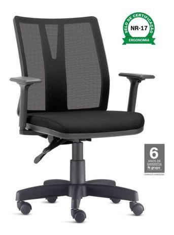 Cadeira Para Escritório Diretor Giratória KADD50- Mecanismo Evolution - Base Metálica com Capa - Linha Addit - Com Braço - Frisokar